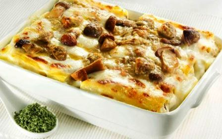 Cannelloni patate e funghi vegan