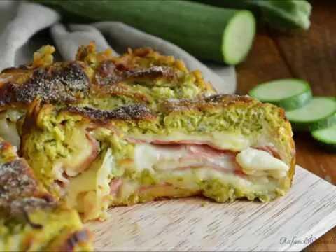 Rotolo di zucchine, prosciutto e formaggio