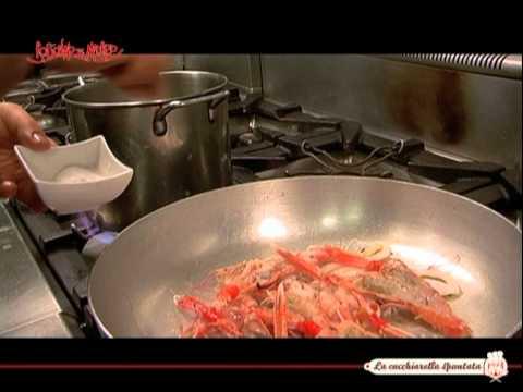 Paccheri di Gragnano con scampi, calamari e mazzancolle