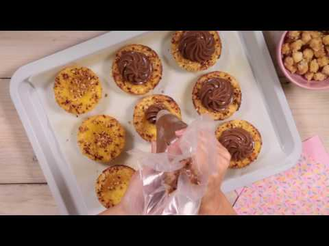 Cestini dolci di polenta al mascarpone