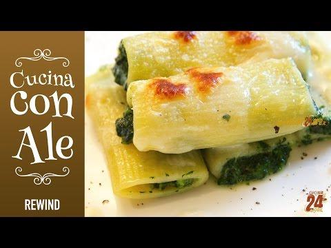Paccheri Ripieni con Spinaci e Crescenza alla Crema di Parmigiano