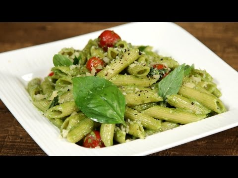 Penne Pasta With Pesto Sauce  | The Bombay Chef – Varun Inamdar