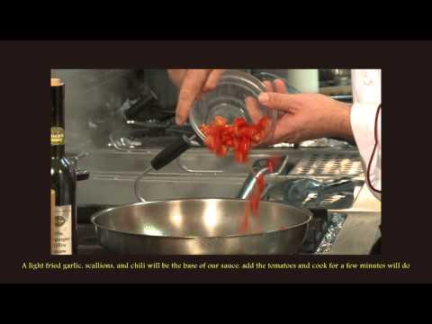 Paccheri con sugo d'astice e pomodoro pachino