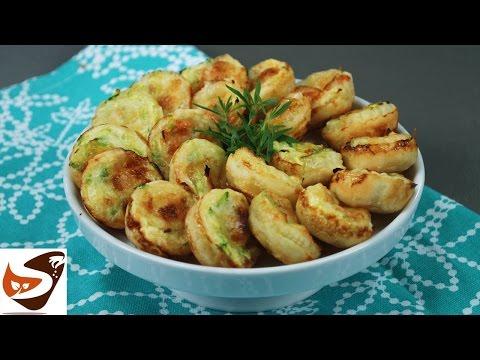 Cestini di pasta sfoglia con zucchine